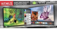 Html5 video player with skins multiple playlist