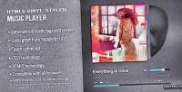 Vinyl html5 player music styled