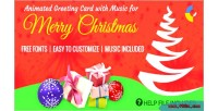 Animated gwd musical greeting christmas merry