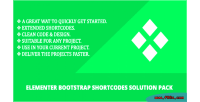 Bootstrap elementer pack solution shortcodes