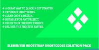 Bootstrap elementer pack solution shortcodes