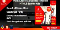 Business multipurpose ad sizes template 7 gwd