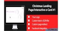 Christmas interactive landing page 1 card e christmas