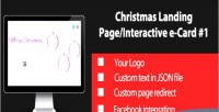 Christmas interactive landing page 1 card e christmas