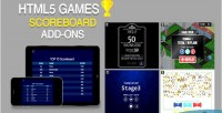 For scoreboard html5 games