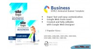 Html5 business animated banners with created designer web google
