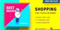 Html5 shopping 16 banner animated