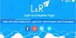 L r login & register page slider with template