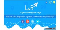 L r login & register page slider with template