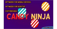Ninja candy html5 construct game capx 2