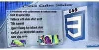 Cube css3 slider slider 3d jquery
