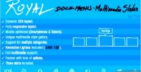 Dock royal slider multimedia menu