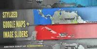 Google stylized slider image maps