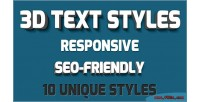 3d animated svg styles text