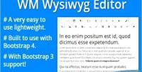 4 bootstrap wysiwyg editor