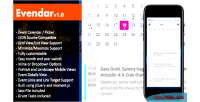 Event evendar calendar picker