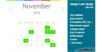 Events jquery ajax via calendar