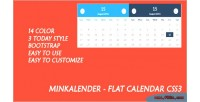 Flat minkalender calendar css3
