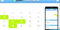 Mobile jquery event calendar