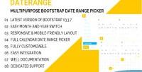 Multipurpose daterange bootstrap picker range date
