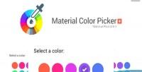 Color material picker plus