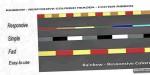 Colored responsive ribbon footer header