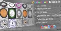Clock colorful