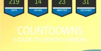 Color styles with 3 countdowns of versions color