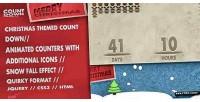 Countdown christmas snowfall counter animated