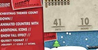 Countdown christmas snowfall counter animated