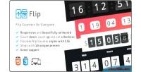 Countdown flip responsive plugin counter flip
