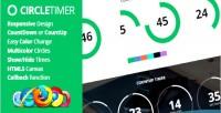 Jquery circletimer countdown timer