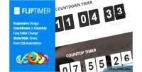 Jquery fliptimer countdown timer