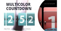 Multicolor resizable countdown
