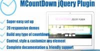 Responsive mcountdown plugin countdown jquery