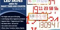 Smart timer & counter addon skins led