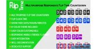 Time flip multipurpose countdown responsive time flip