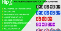 Time flip multipurpose countdown responsive time flip