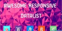 Data angularjs table data list