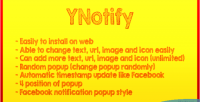 Facebook ynotify style popup notification