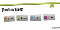 Banner jquery message