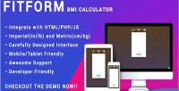 Bmi fitform calculator html for responsive php js