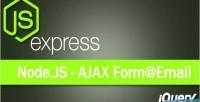 Contact ajax responsive nodejs form