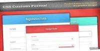 Css responsive validation set forms