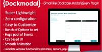 Dockmodal gmail like dockable plugin dialog modal