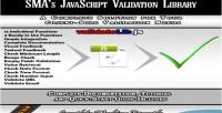 Form javascript validation library