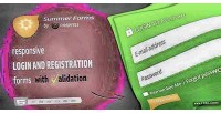 Forms summer login forms registration and