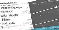 Jquery edvalueslider widget slider value
