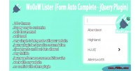 Lister form auto complete plugin jquery lister