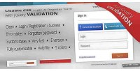 Css login register form validation jquery with